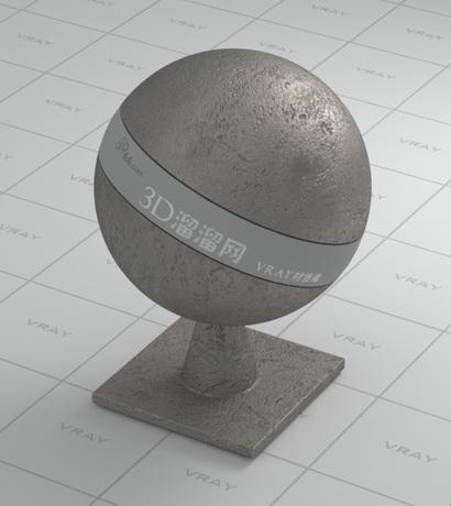Black cast iron - rough material rendering