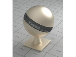 Plated metal - wheat color vray material