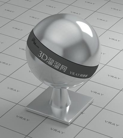Chromium iron alloy material rendering