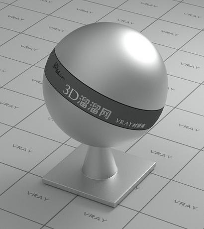 Polished plated metal - dark gray material rendering