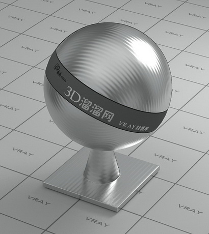 Cold rolled metal material rendering