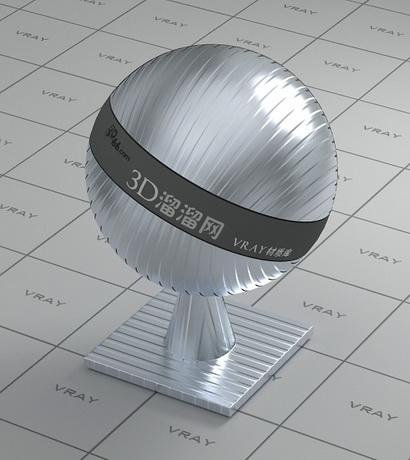 Bump aluminium alloy material rendering