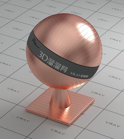 Texture bump pure copper material rendering