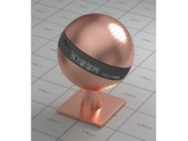 Texture bump pure copper vray material