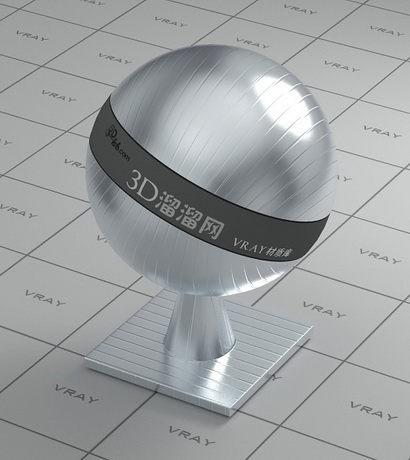 Texture bump stainless steel material rendering
