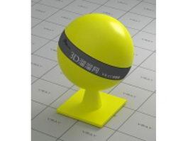 Asa plastic - yellow vray material