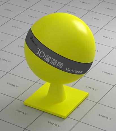 Asa plastic - yellow material rendering