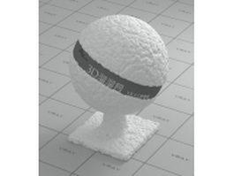 Polystyrene foam vray material