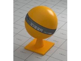 Polypropylene plastic - orange vray material