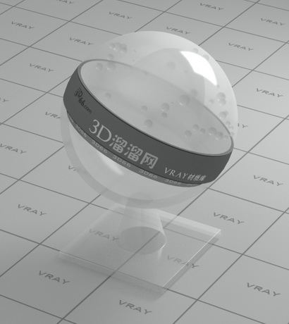 Polypropylene (transparent PP plastic) material rendering