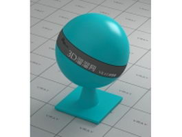 Turquoise blue plastic vray material