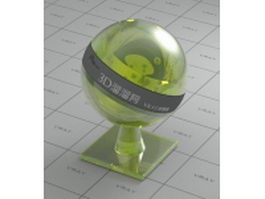 Cool green transparent glossy plastic vray material