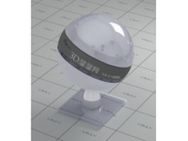 Alice blue transparent glossy plastic vray material
