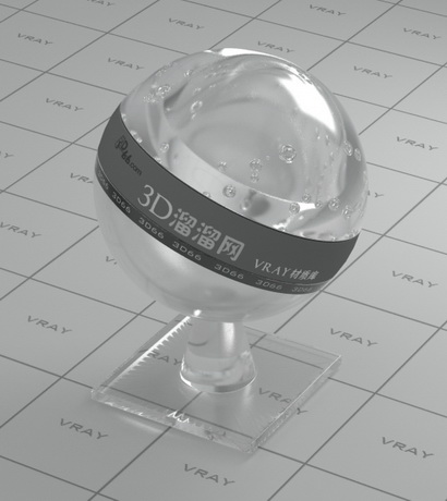 Acrylic material glass material rendering
