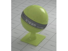 Yellow green plastic vray material