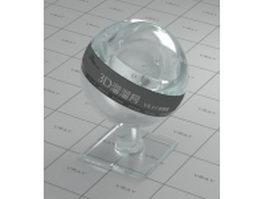 Acrylic glass - ocean vray material