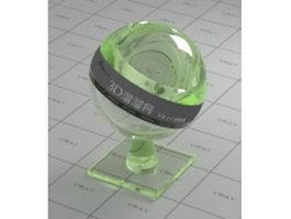 Fluorescent acrylic plastic vray material