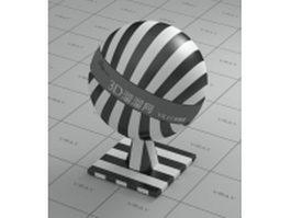 Plastic - black and white checker line vray material