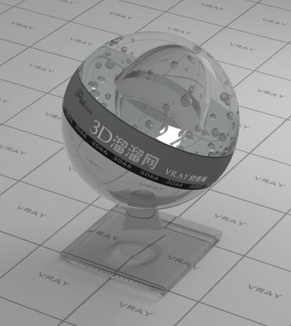Transparent plastic thin film material rendering