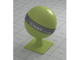 Glossy plastic - yellow green vray material