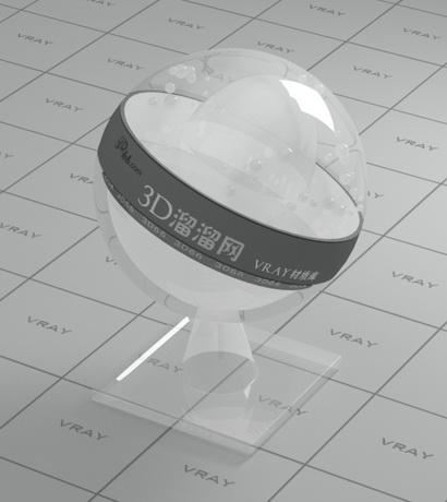 Air bubble plastic material rendering