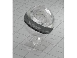 Object glass - bottle light vray material