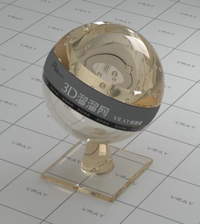 Object glass - bottle dark material rendering