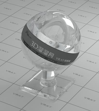 Flint optical glass material rendering