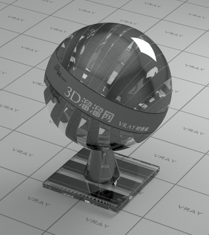 Decoration glass - gray checker line material rendering