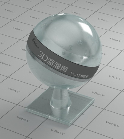Physically strengthened glass material rendering