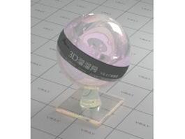 Swarovski crystal - pink vray material