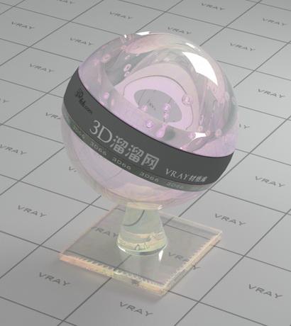 Swarovski crystal - pink material rendering