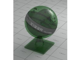 Old-fashion decoration glass vray material