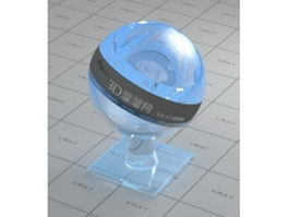 Reflective glass - blue vray material