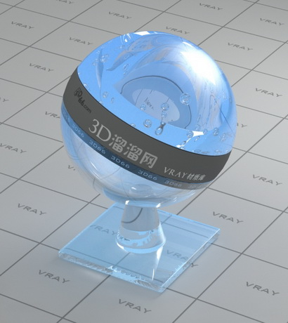 Reflective glass - blue material rendering