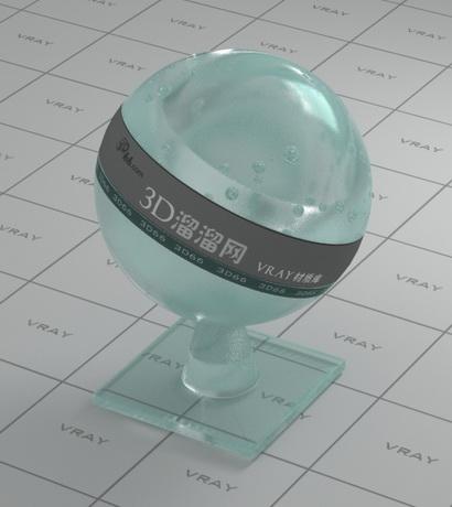 Lumpy glass material rendering