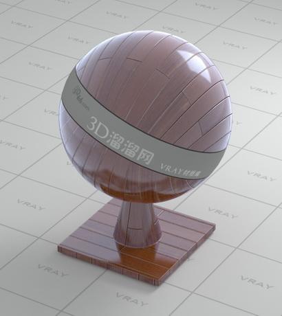 Waxed solid wood flooring material rendering