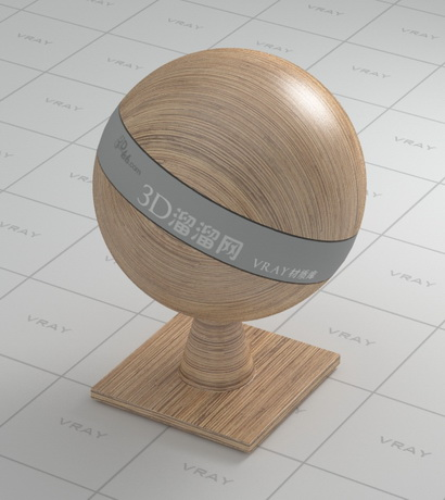 Artificial wood board material rendering