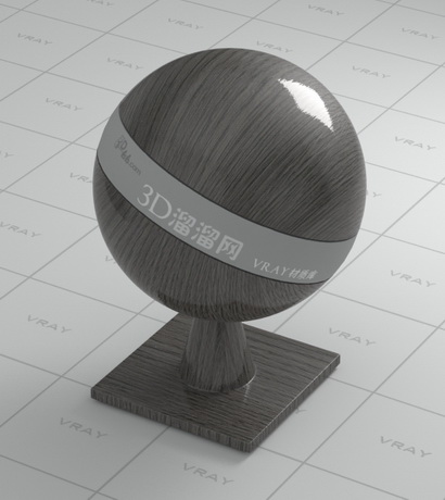 Ceylon ebony wood material rendering