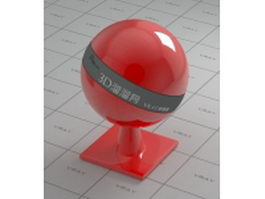 Red bowling ball vray material