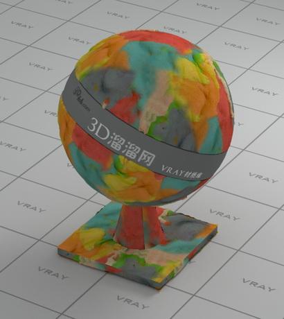 Colored plasticine material rendering