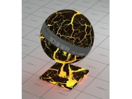 Blazing magma vray material
