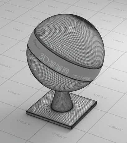 Wireframe graphics material rendering
