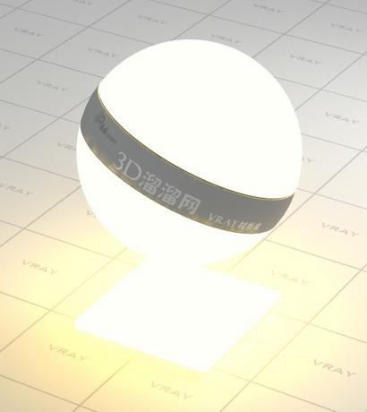 Light source material rendering