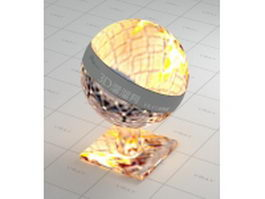 Flame fireplace vray material