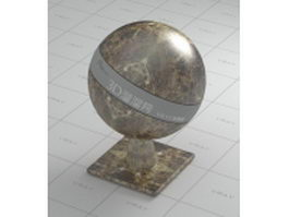 Black and golden marble vray material