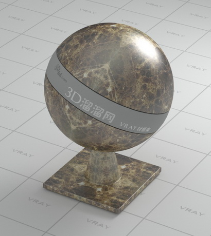 Black and golden marble material rendering