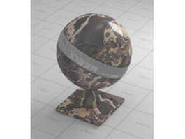 Brown gold marble vray material