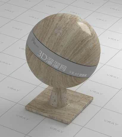 Wood grain granite material rendering