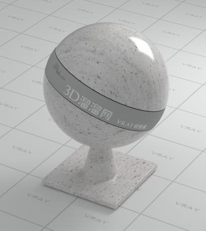 White grain granite material rendering